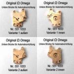 Omega Untere Brücke für Automatvorrichtung Omega 551-1033 Cal. 551 552 561 562 564 565 751 752