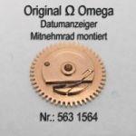Omega Datumanzeiger Mitnehmrad montiert Part Nr. Omega 563-1564 Cal. 563 564 565 750 751 752