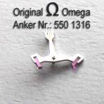 Omega 550-1316 Omega Anker mit Welle Omega 550 1316 Cal. 550 551 552 560 561 562 563 564 565 600 601 602 610 611 613 750 751 752