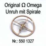 Omega 550-1327 Unruh mit Spirale, Welle komplett montiert, Omega 550 1327 Cal. 550 551 552 560 561 562 563 564 565 600 601 602 610 611 613 ...