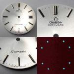 Nr17 Omega Seamaster Automatic Zifferblatt 29,5mm Durchmesser, perlmutfarben - schimmernd und lumeszierenden Leuchtindizes (Omega Dial)