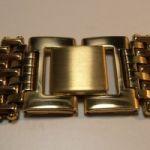 Uhrband – Uhrenarmband Nr4 Edelstahl vergoldet 20mm mit Sicherheitsfaltschließe NEU