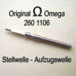 Omega Aufzugswelle Stellwelle Part Nr. Omega 260-1106 Cal. 30 30T1 30T2 260 261 262 265 266 267 268 269 280 281 283 284 285 286