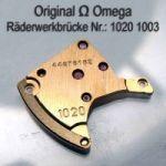 Omega Räderwerkbrücke Part Nr. Omega 1020-1003 Cal. 1020 SIGNIERT