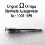 Omega Aufzugswelle Stellwelle männlich Part Nr. Omega 1000-1159 Cal. 1000 1001 1002