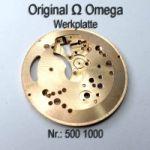 Omega Werkplatte Omega Werkplatine Par Nr. Omega 500 1000 Cal. 500 501 505