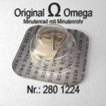 Omega Minutenrad mit Minutenrohr, NOS 5,30mm Part Nr. Omega 280-1224 Cal.  30SC 30T1SC 30T2SC 30T2CPC 280 281