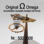Omega Unruhkloben komplett mit Unruh Welle Incabloc und Schwanenhals Feinregulierung Part Nr. Omega 500-1006 Cal. 500 501 502 503 504 505