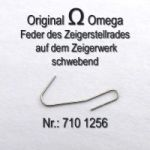 Omega 710-1256 Feder des Zeigerstellrades auf dem Zeigerwerk schwebend Omega 710 1256 Cal. 710 711 712