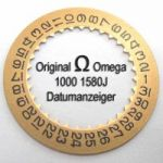 Omega 1000 1580J Omega Datumanzeiger 1000 1580 gelb, Cal. 1000 1001 1002