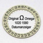 Omega 1020 1580 Omega Datumanzeiger Weiß mit schwarzen Ziffern Cal. 1020 1021 1022 (NR 01)