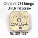 Omega 231 1327 Omega Unruh mit Spirale, Welle komplett montiert Cal. 231