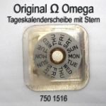 Omega 1020-1516A  Omega Tageskalenderscheibe mit Stern Omega 1020 1516A englisch (06) Cal. 1020 1021 1022