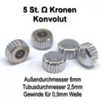 Konvolut 5 Stück Edelstahl- Kronen mit Omega Zeichen signiert nur 49,90.