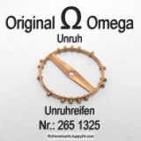 Omega 265 1325 Omega Unruh, Omega Unruhreifen Cal 265 266 267 284