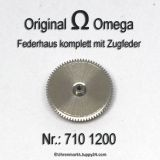 Omega Federhaus komplett Omega 710-1200 mit Federwelle und Zugfeder Cal. 710 711 712