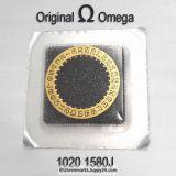 Omega Datumanzeiger Omega 1020-1580A Silber mit schwarzen Ziffern Cal. 1020 1021 1022 (NR 03)