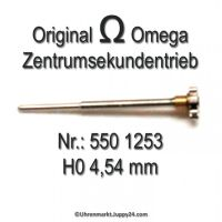 Omega Zentrumsekundentrieb 550-1253 H0 4,54mm Part Nr. Omega 550-1253 Cal. 550 551 552
