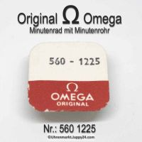 Omega Minutenrad mit Minutenrohr H1 Höhe 4,51mm Part Nr. Omega 560-1225 + Nr. Omega 560-1219 Cal. 560 561 563 564 565 610 611 613