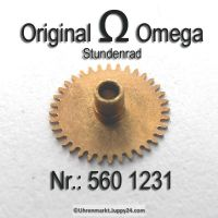 Omega Stundenrad Höhe 1,68 mm Part Nr. Omega 560-1231 Cal. 560 561 562 563 564 565 610 611 613
