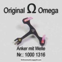 Omega 1000-1316 Anker mit Welle, Omega 1000 1316 Cal. 1000 1001 1002 1010 1011 1012 1020 1021 1022 1030 1035