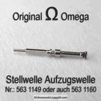 Omega  Aufzugswelle Stellwelle Omega 563-1160 Omega 563-1149 Cal. 563 564 565 750 751 752