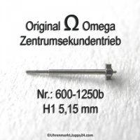 Omega Zentrumekundentrieb 600-1250b Omega 600 1250b H1 5,19mm Cal. 600 601 602