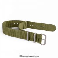 Natoband – Uhrenarmband Nylon – Nato Armband, Armeegrün, Militärband 20 mm