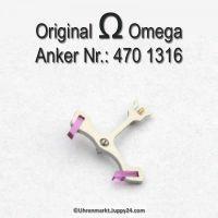 Omega Anker mit Welle Part Nr. Omega 470-1316 Cal. 470 471 490 491 500 501 502 503 504 505