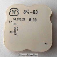 FHF Aufzugswelle - Stellwelle Part Nr. 8,75-63 für Kaliber 63, 63-2, 63-3, 631, 632,633,634,635,636