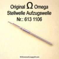 Omega Aufzugswelle Stellwelle Part Nr. Omega 613-1106 Cal. 613