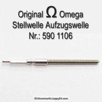 Omega Aufzugswelle Stellwelle Part Nr. Omega 590-1106 Cal. 590 591