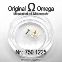 Omega Minutenrad mit Minutenrohr H1 Part Nr. Omega 750 1225 Cal. 750 751 752