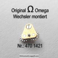 Omega Wechsler  montiert Part Nr. Omega 470 1421 Cal. 470 471 490 491 500 501 502 503 504 505