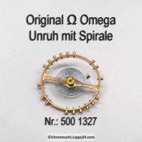 Omega Unruh Spirale Welle komplett montiert Part Nr. Omega 500 1327 Cal. 490 491 500 501 502 503 504 505