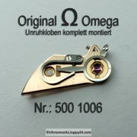 Omega Unruhkloben komplett mit Incabloc und Schwanenhalsregulage Part Nr. Omega 500 1006 Cal. 500 501 502 503 504 505