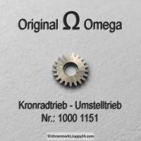 Omega Kronradtrieb Omega Umstelltrieb Part Nr. Omega 1000-1151 Cal. 1000 1001 1002