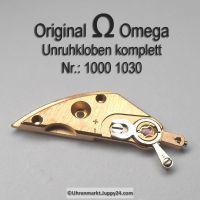 Omega Unruhkloben komplett mit Incabloc und Feinregulierung Part Nr. Omega 1000-1030 Cal. 1000 1001 1002