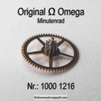 Omega Minutenrad Part Nr. Omega 1000-1216 Cal. 1000 1001 1002