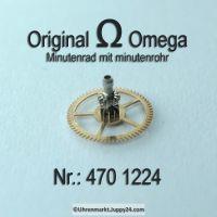 Omega Minutenrad mit Minutenrohr 470-1224 Omega 470 1224 Höhe 4,59 Cal. 470 471 500 501 505