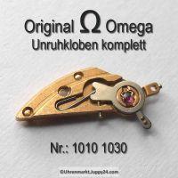 Omega Unruhkloben Omega 1010-1030 komplett mit Incabloc und Feinregulierung Cal. 1010 1011 1012 1020 1021 1022 1030 1035