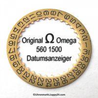 TOP Zustand Omega Datumanzeiger (Datumsscheibe - Datumsring) gewölbt Part Nr. Omega 560-1500 Cal. 560 561 562 563 564 565 610 611 613