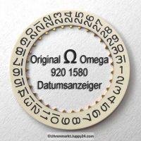 Omega 920-1580 Datumanzeiger (Datumsscheibe - Datumsring) Omega 920 1580 Cal. 920