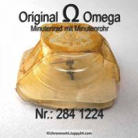 Omega Minutenrad mit Minutenrohr, NOS 5,65mm Part Nr. Omega 284-1224 Cal.  284 285 286 30SCT4 30SCT5 30SCT6