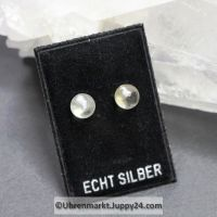 Edelstein Ohrstecker Bergkristallkugeln -  8 mm Durchmesser - 925er Sterling Silber