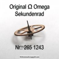 Omega Sekundenrad Part Nr. Omega 265-1243 Cal. 265 266 267 268 269