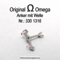 Omega Anker mit Welle für Hammerautomatik Part Nr. Omega 330-1316 Cal. 330 331 332 333 340 341 342 343 344 350 351 352 353 354 355