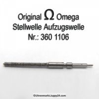 Omega Aufzugswelle Stellwelle Part Nr. Omega 360-1106 Cal. 28 28SC 360 361 370 371 372