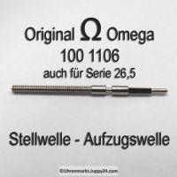 Omega Aufzugswelle Stellwelle Part Nr. Omega 100-1106 Cal. 100 26,5 26,5T ..... Serie SIEHE ANZEIGE