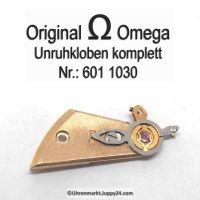 Omega Unruhkloben komplett mit Incabloc und Feinregulierung Part Nr. Omega 601-1030 Cal. 601 602 611 613